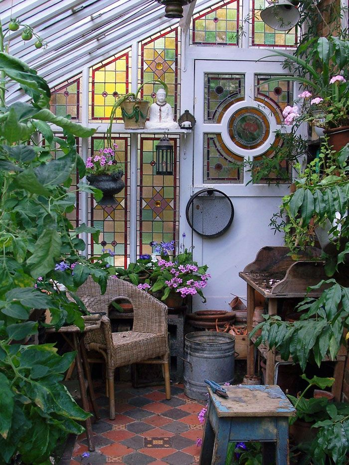 The greenhouse at St Benedict Victorian B in St Leonards on Sea, Essex. Gorgeous #conservatorygreenhouse