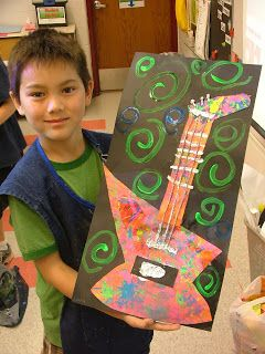 pollock guitars- kids would love...make for Christmas concert!