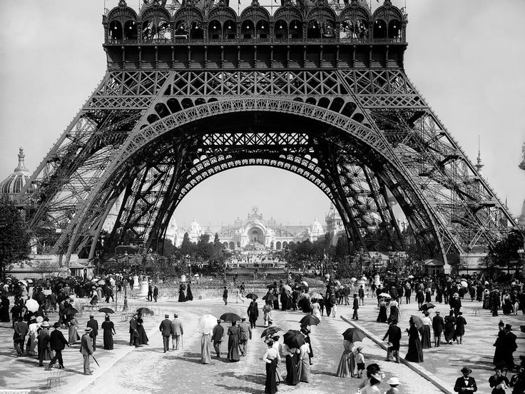 The Eiffel Tower in 1900