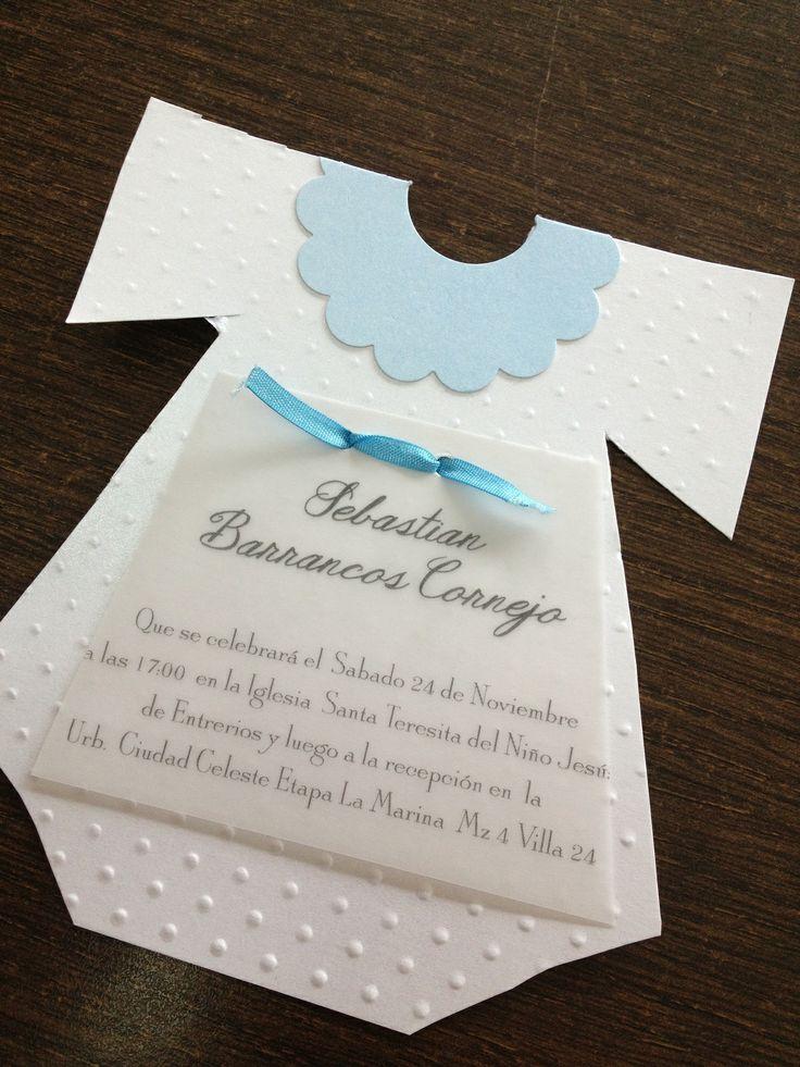 A sweet D invitation for babyu0027s Baptism