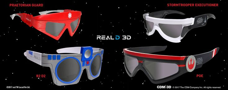 Exclusive RealD 3D Glasses for The Last Jedi | Yakface.com