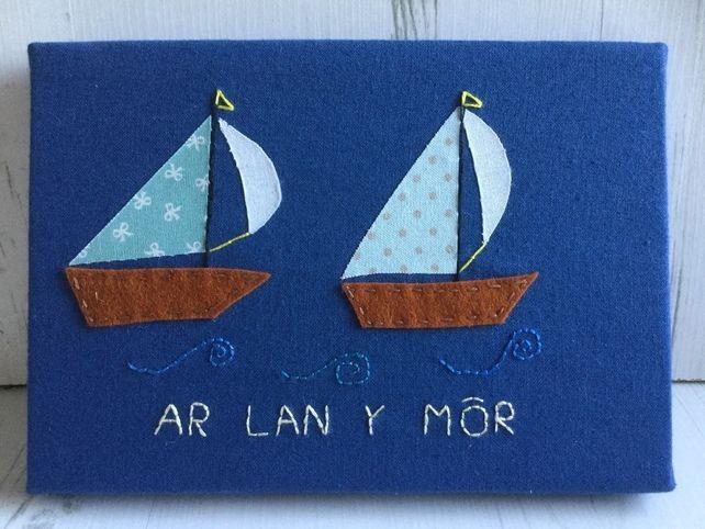 Seaside Canvas Ar Lan Y Mor £11.00