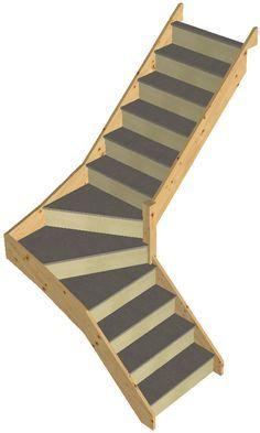 Loft space saving staircase