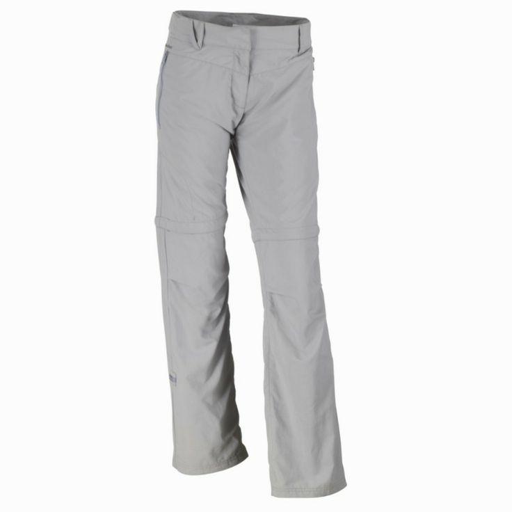 Abbigliamento escursionismo donna - Pantaloni escursionismo modulabili donna Forclaz 100 grigi