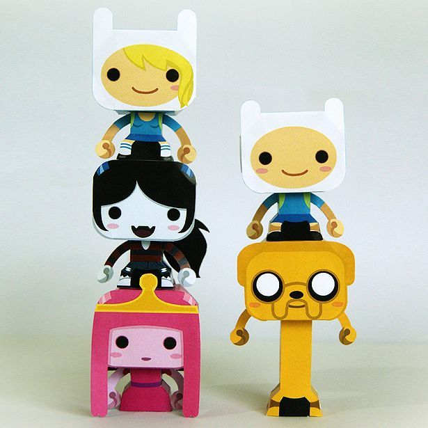 Tektonten Papercraft - Free Papercraft, Paper Models and Paper Toys: Mini Adventure Time Paper Toys