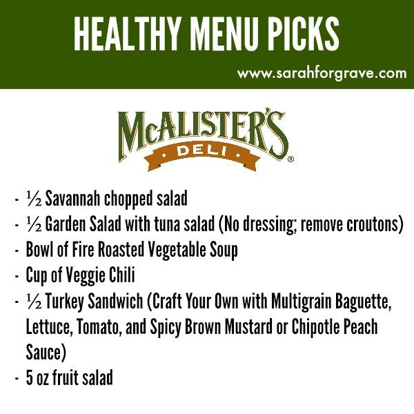 Healthy Menu Options at McAlister's Deli. | www.sarahforgrave.com