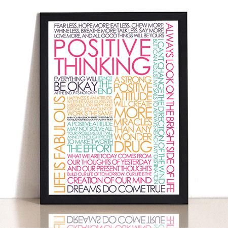 Plakat - Positive Thinking colors
