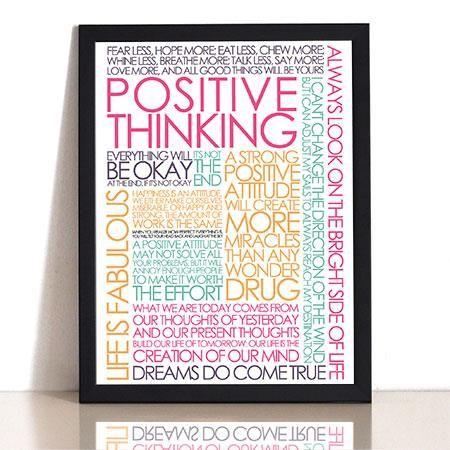 Plakat - Positive Thinking colors