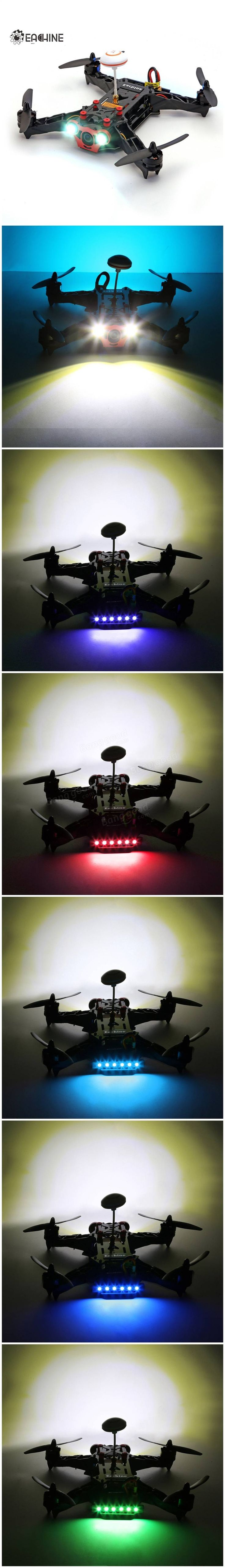 Eachine Racer 250 FPV Drone Built in 5.8G Transmitter OSD With HD Camera ARF Version Sale-Banggood.com