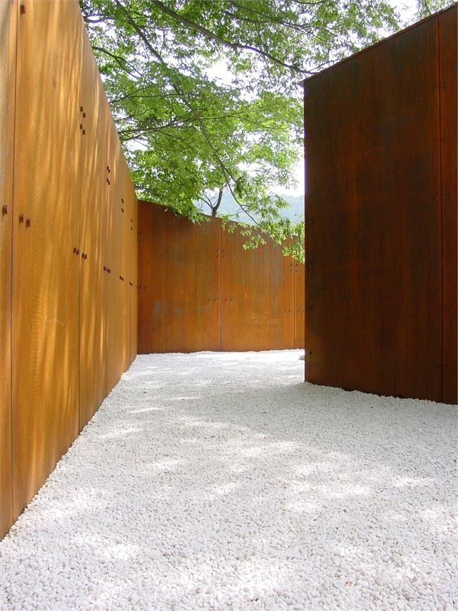 Corten steel garden products inspiration fencing ABK outdoor @Andrew Kitchell…