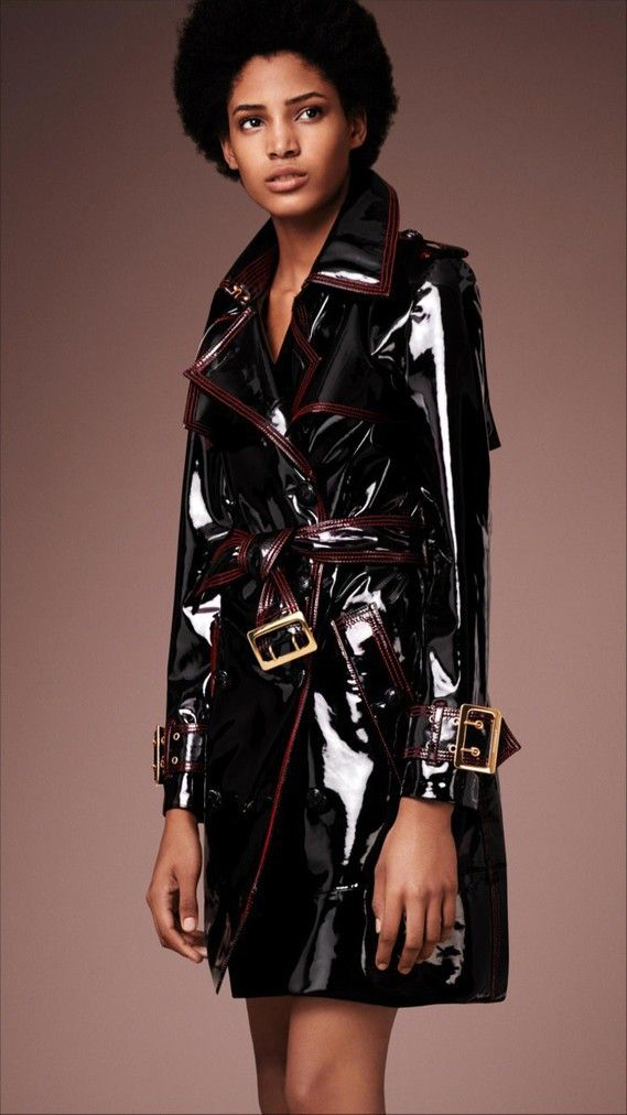 Burberry Patent Leather Trench Coat 2016