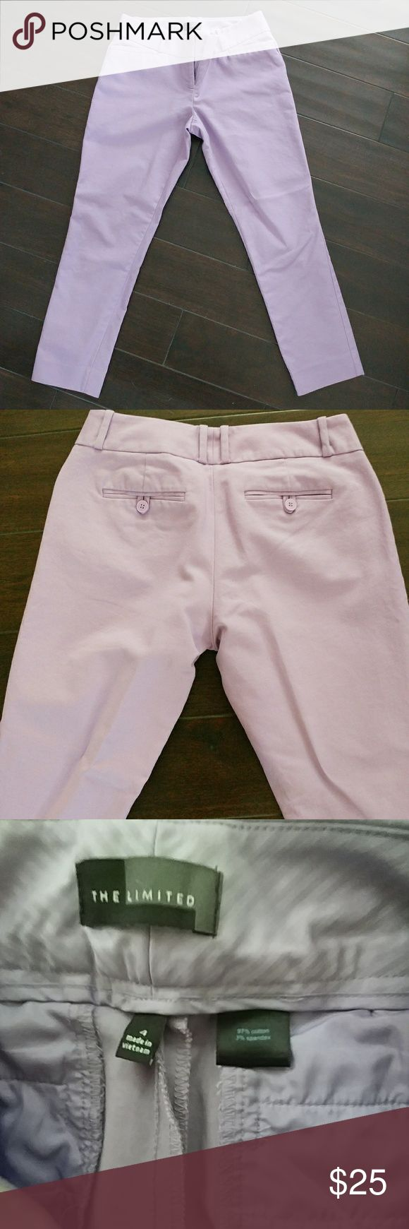 The Limited pastel purple ankle skinny pants sz 4 Like new lilac pants. Casual and dressy, perfect for your summer outfits. The Limited Pants Ankle & Cropped