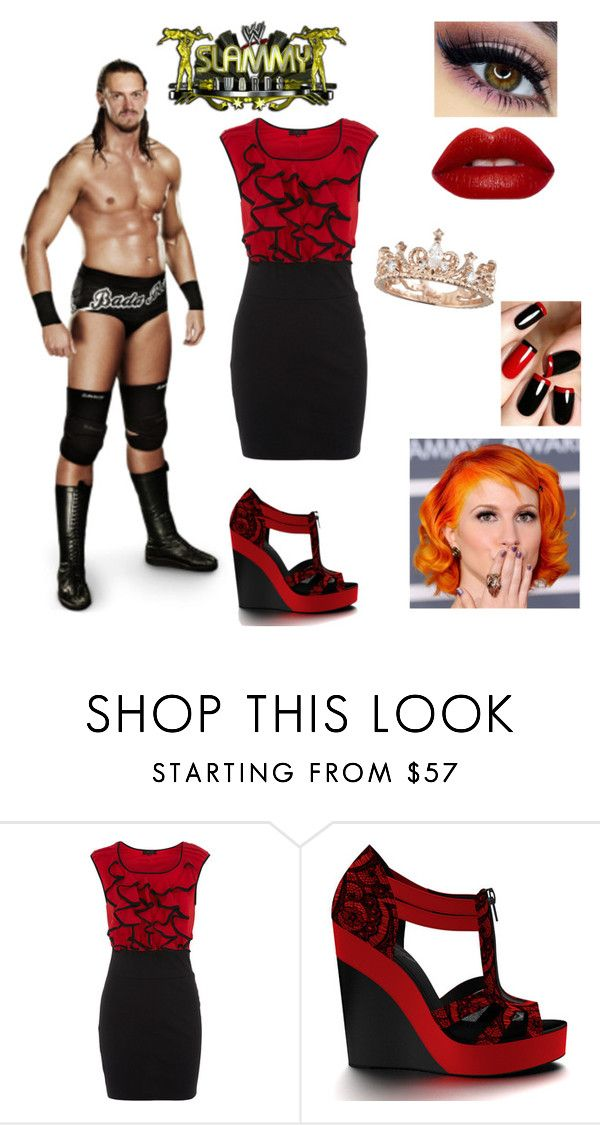 """Slammy Awards w/ Colin Cassady"" by mrsromanreigns916 ❤ liked on Polyvore featuring Dorothy Perkins and Shoes of Prey"