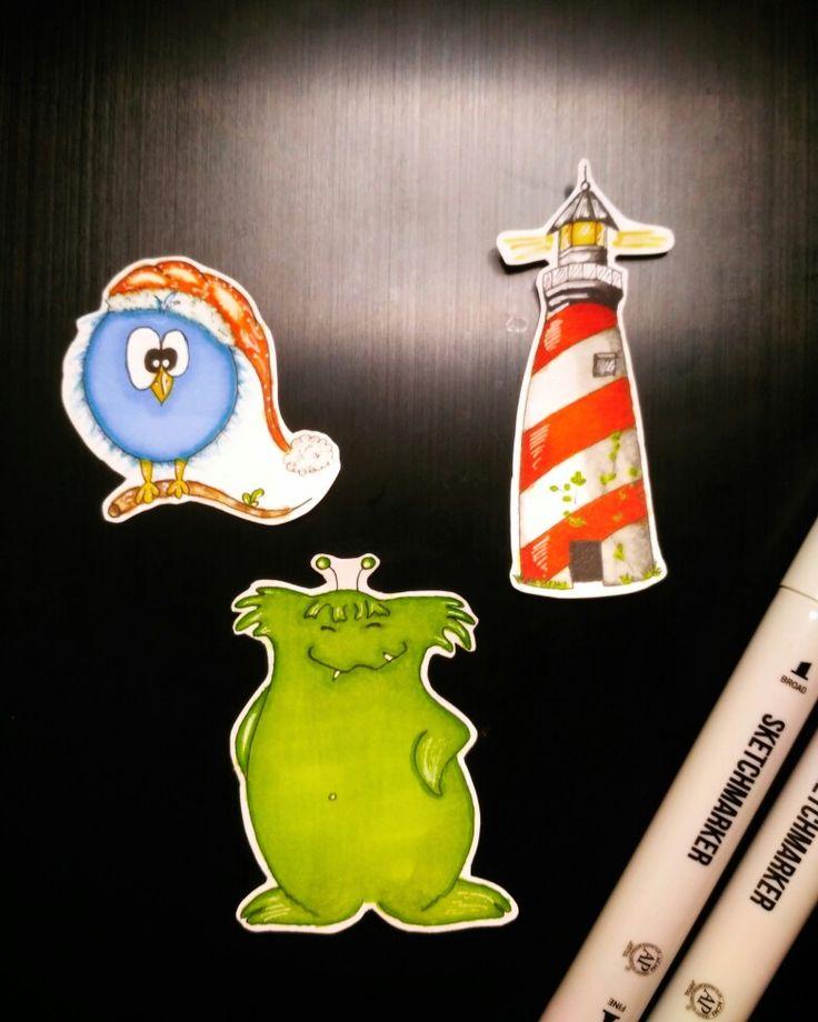 Чудики и маяк спиртовыми маркерами Sketchmarker