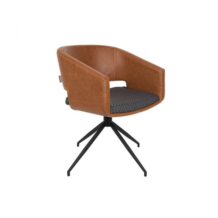 Lot de 2 chaises pivotantes design Beau