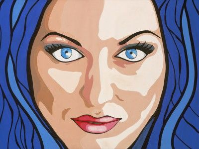 Jayme by Dylan Sarra  Jayme. There's not enough room for me to describe this girl. She's bright, funny, loads of fun and just as beautiful on the inside as she is on the outside. Her eyes are as intoxicating as her personality. Very proud to have her as my friend.   #jayme #bright #funny #beautiful #popart #portrait #canvas #colourful #interiordesign #sarrainc
