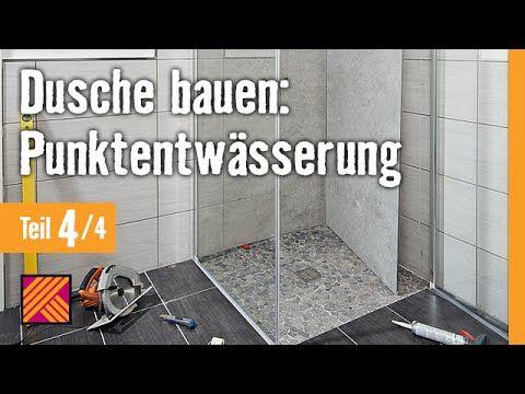 Bodengleiche Dusche einbauen: Linienentwässerung - Kapitel 3: Fliesen | HORNBACH Meisterschmiede - YouTube