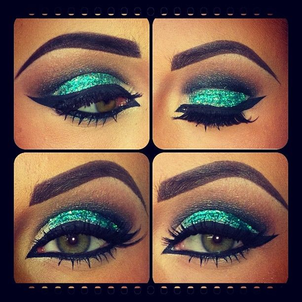 Glitter cut crease [ CaptainMarketing.com ] #beauty #online #marketing