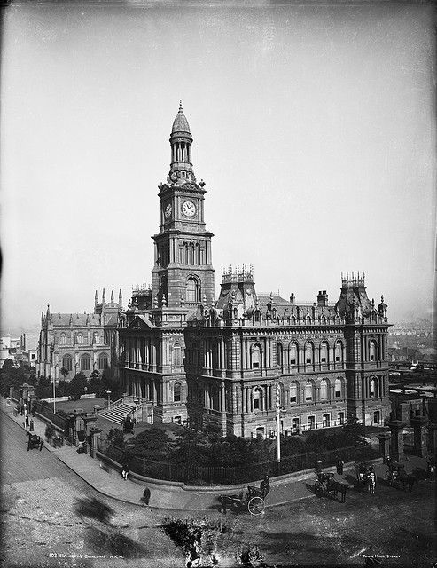 St Andrew's Cathedral, Town Hall, Sydney c1900