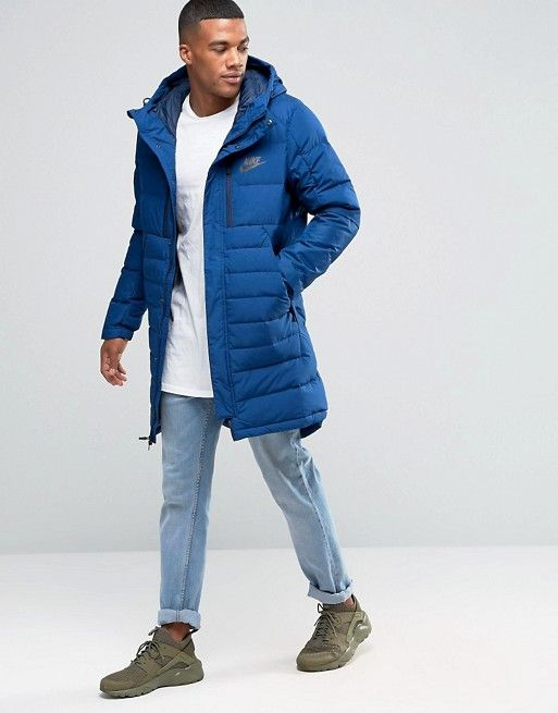 Nike AV15 Parka Jacket In Blue 807393-423  f90bd00f4