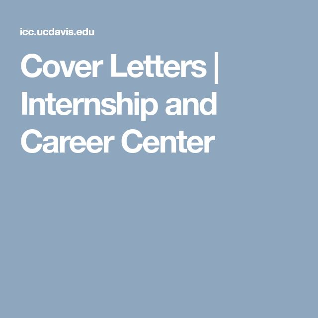 Cover Letters | Internship and Career Center