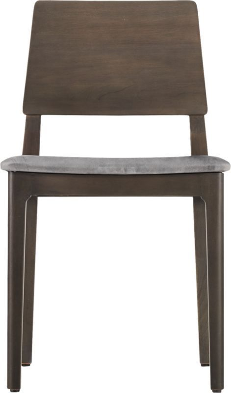 Quincy Grey Leather Chair #LeatherChair