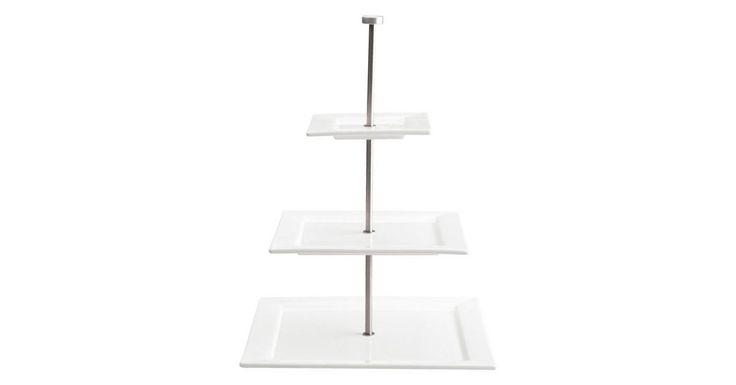 Etagere »Quadrato 3-stufig«, Keramik
