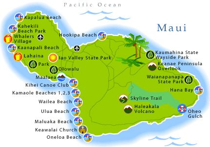 Maui Attractions On The Maui Map