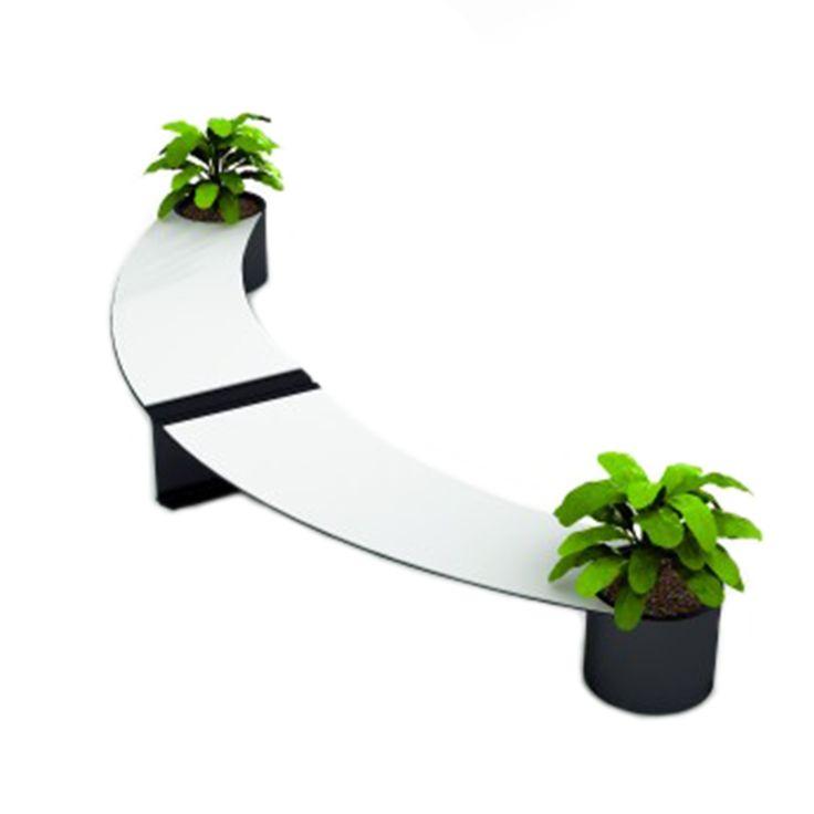 Benedict C1 bench #basiccollection #outdoor #bench #steel #flowerpot #curve #design