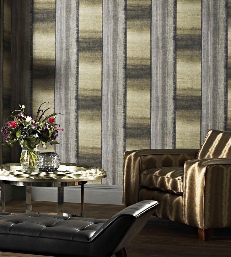 Metallics   Linea Wallpaper by Prestigious Textiles   Jane Clayton