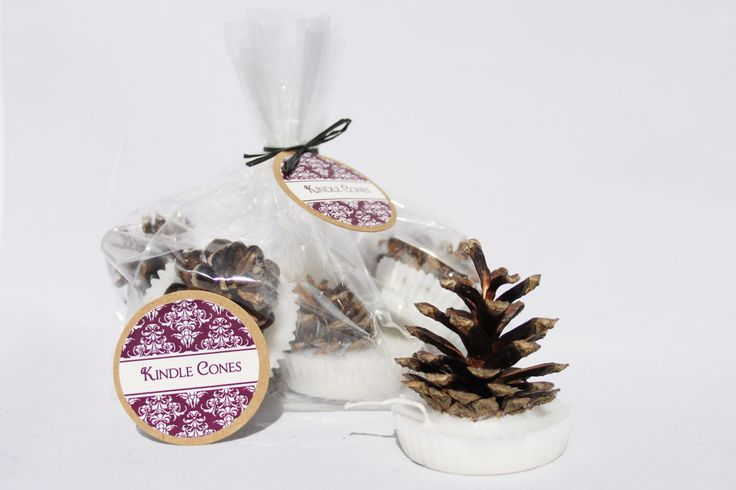 Cinnamon scented pine cone firelighters £6.50. Christmas adult stocking filler idea
