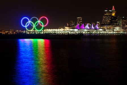 my first LIVE olympic experience...beautiful vancouver bc canada