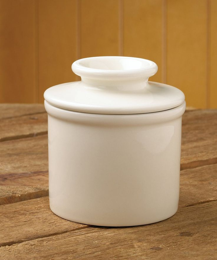 "Mrs. Anderson's Better Butter Keeper allows you to keep the butter nearby instead of worrying about putting it back in the refrigerator. Dimensions: 4"" x 3 1/2"""