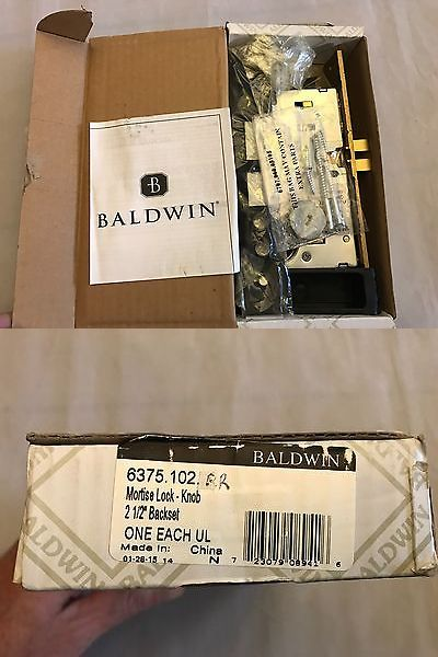 Door Knobs and Levers 180964: Baldwin Door Entrance Mortise Lock Rr Vintage Brass New In Box -> BUY IT NOW ONLY: $95.96 on eBay!