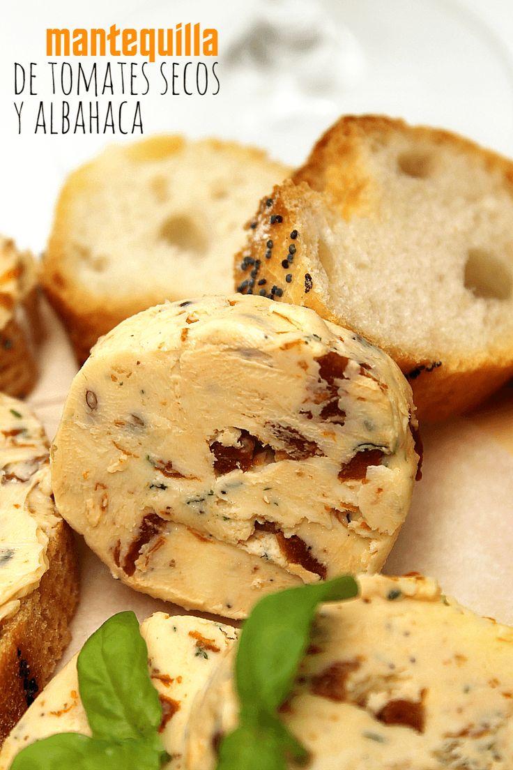 Mantequilla de tomates secos y albahaca | LAS SALSAS DE LA VIDA