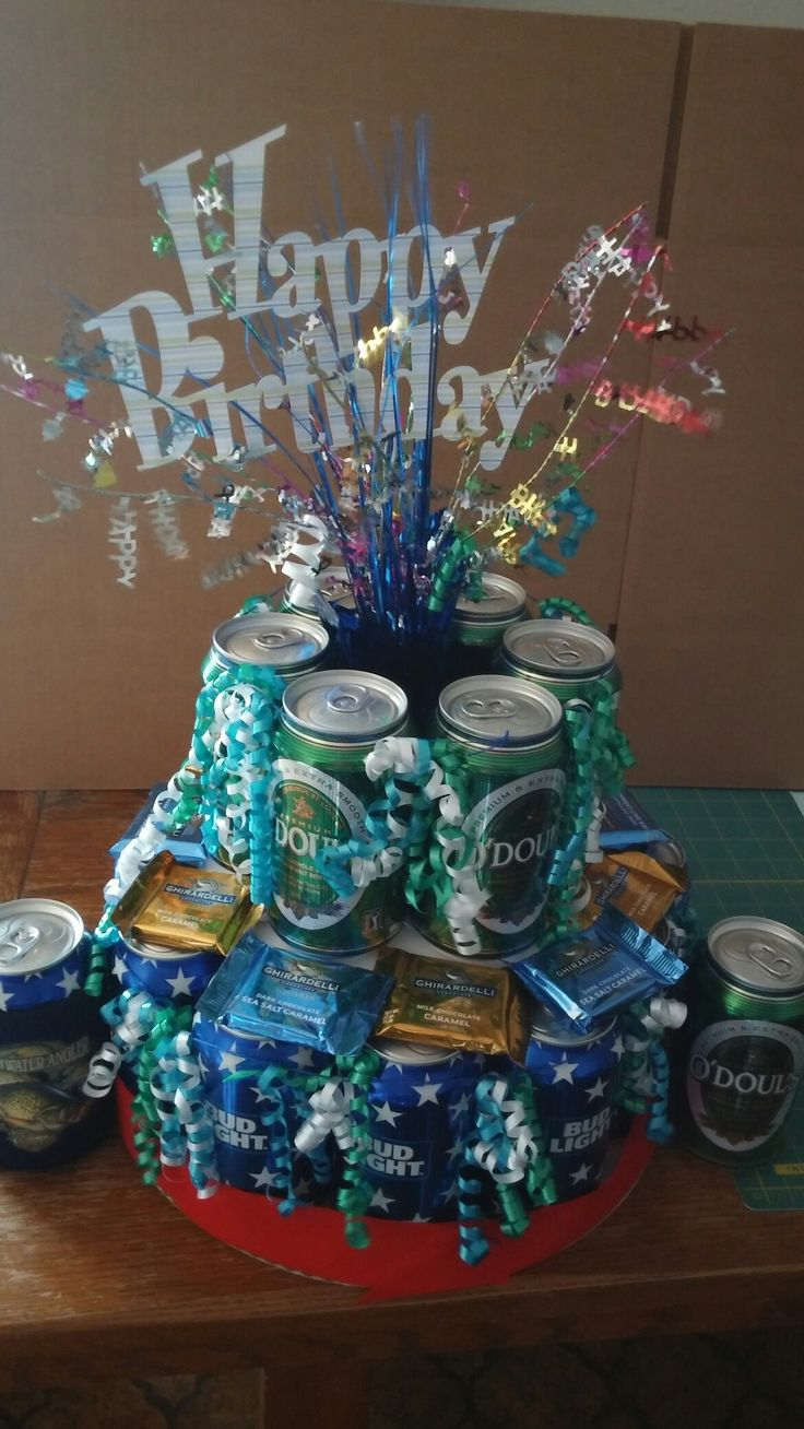 beer birthday cake can cake that i made for my s birthday pinteres 1629