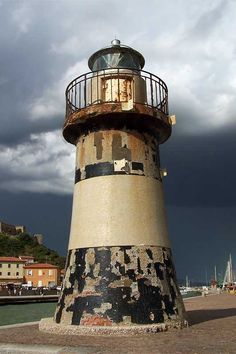 Rusty Lighthouse, one of the two old lighthouses in the port of Castiglione della Pescaia.