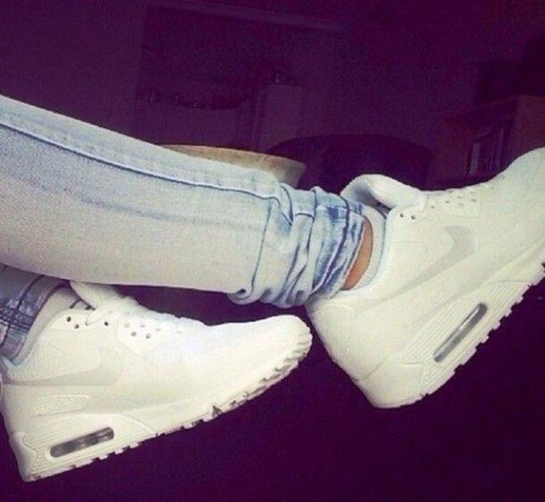 shoes nike airmax nike, airmax, air, white, shoes, trainers, tumblr, white nike air max