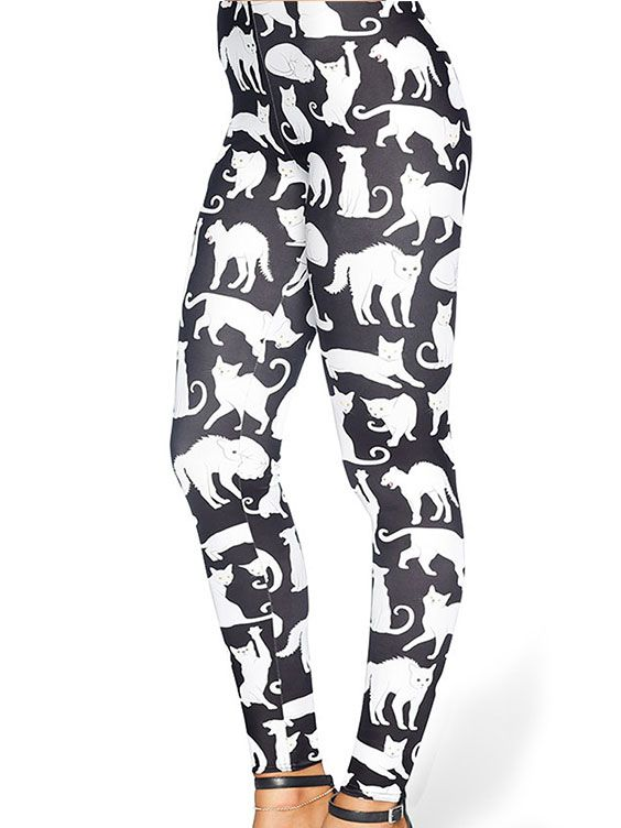A Real Cool Cat HWMF Leggings - 48HR / LIMITED (AU $75AUD / US $55USD) by Black Milk Clothing