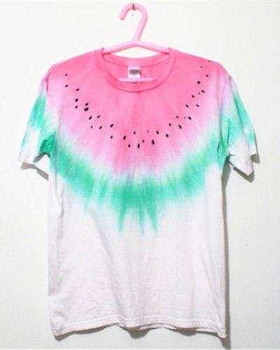 Creative girls watermelon t shirt summer 2015 fashion trends fruit tie dye shirts