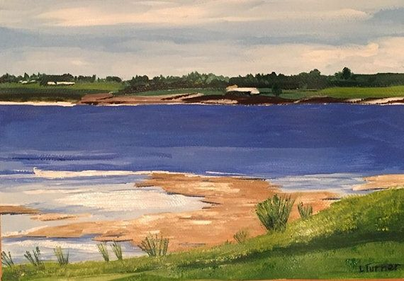 Botany Bay from Kurnell, Acrylic on Paper, Australian Artist, Seascape, The Shire, Framed behind Glass