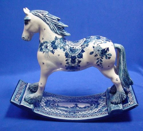 RP: Delft Hobby Horse Very Fine Blue. Visit shop.holland.com/en for Home and Fashion gifts inspired by Delft Blue