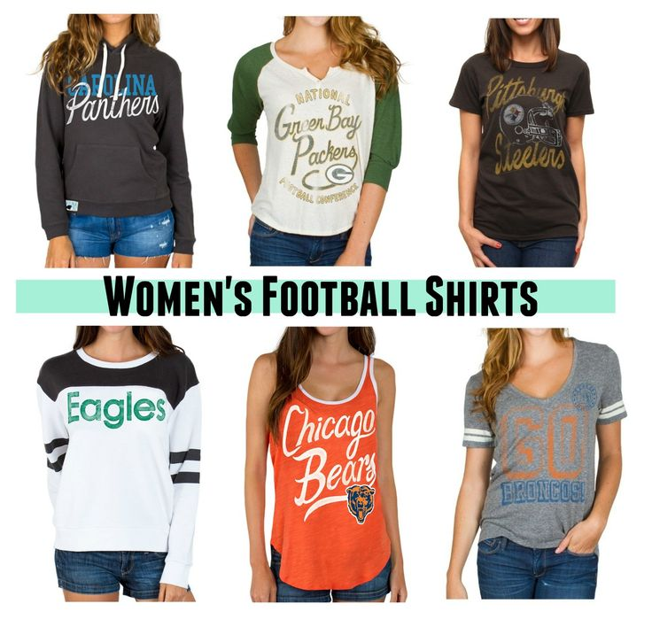 Women's NFL T-Shirts: Football hoodies, raglans, long sleeves, tees, and tanks! #football #nfl #shirts