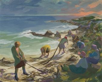 Gathering Seaweed By Marjorie Wallace