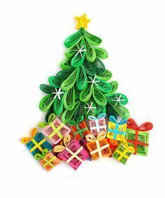 Quilled Christmas Tree & Gifts