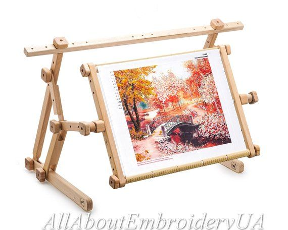 Needlework Adjustable Lap Table Stand Hands Free Wooden Etsy Lap Table Wooden Cross Cross Stitch