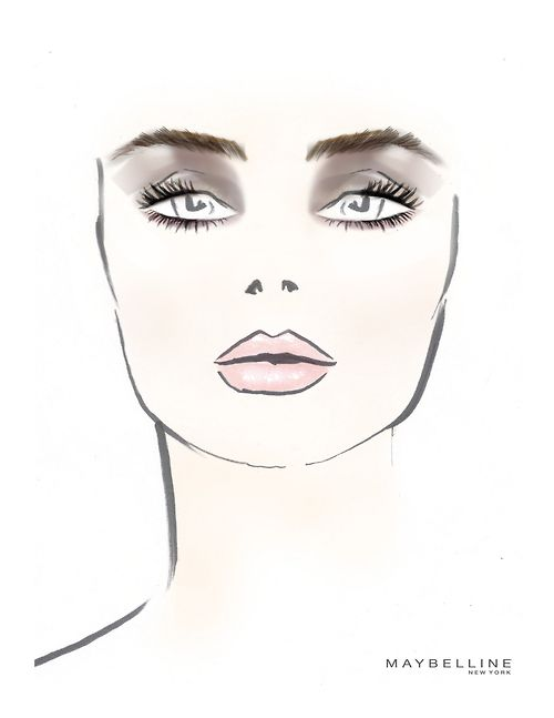 The @Maybelline New York face chart from the Richard Chai show. #NYFW #mbfw: The Face