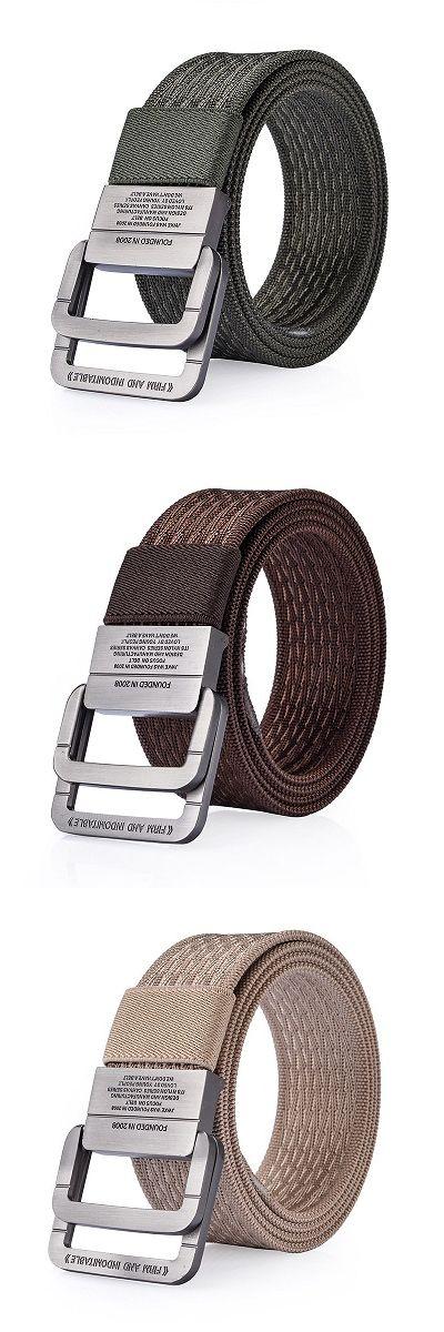 $11.88  120CM Men Nylon Double Ring Alloy Buckle Belt Outdoor Sport Military Tactical Durable Pants Strip