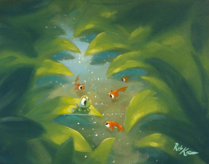 Rob Kaz - Friendly Oranges - original oil on canvas painting