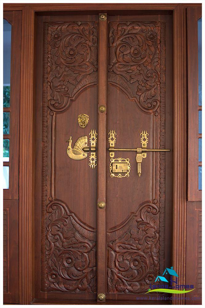 نتيجة بحث الصور عن Kerala Door Designs Wooden Main Door Design Wooden Main Door Double Door Design